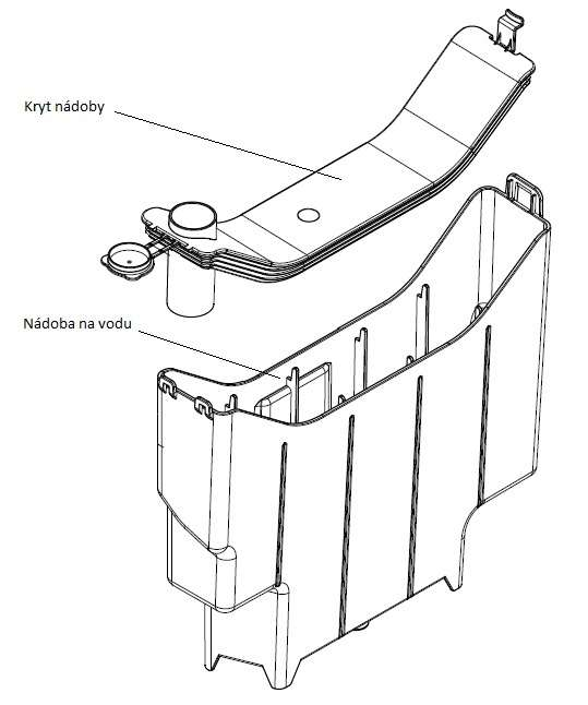 Kryt nádoby na saponát k vysavačům Aquawelt 919, VC7920, ZVC752, ZVC762 Zelmer 919.0052 ZELMER ( příslušenství )