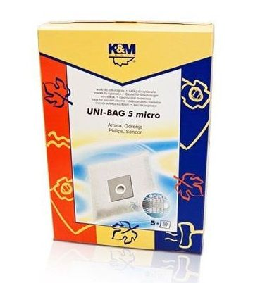 K&M UNI-BAG/ 5 micro sáčky k vysavačům Clatronic, Concept, ETA, Sencor