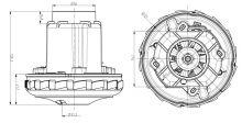 Kompletní motor k vysavačům Aquawelt 919, ZVC762, ZVC752 Zelmer 437.1000 ZELMER ( náhradní díly )